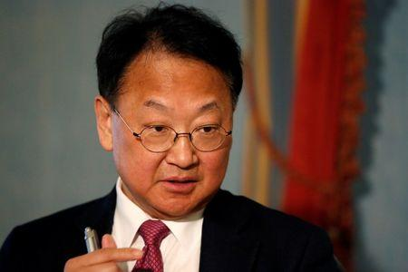 South Korean Finance Minister Yoo Il-ho speaks during an interview in Manhattan, New York