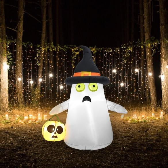 Ghost and Pumpkin Inflatable (Image via Wayfair)