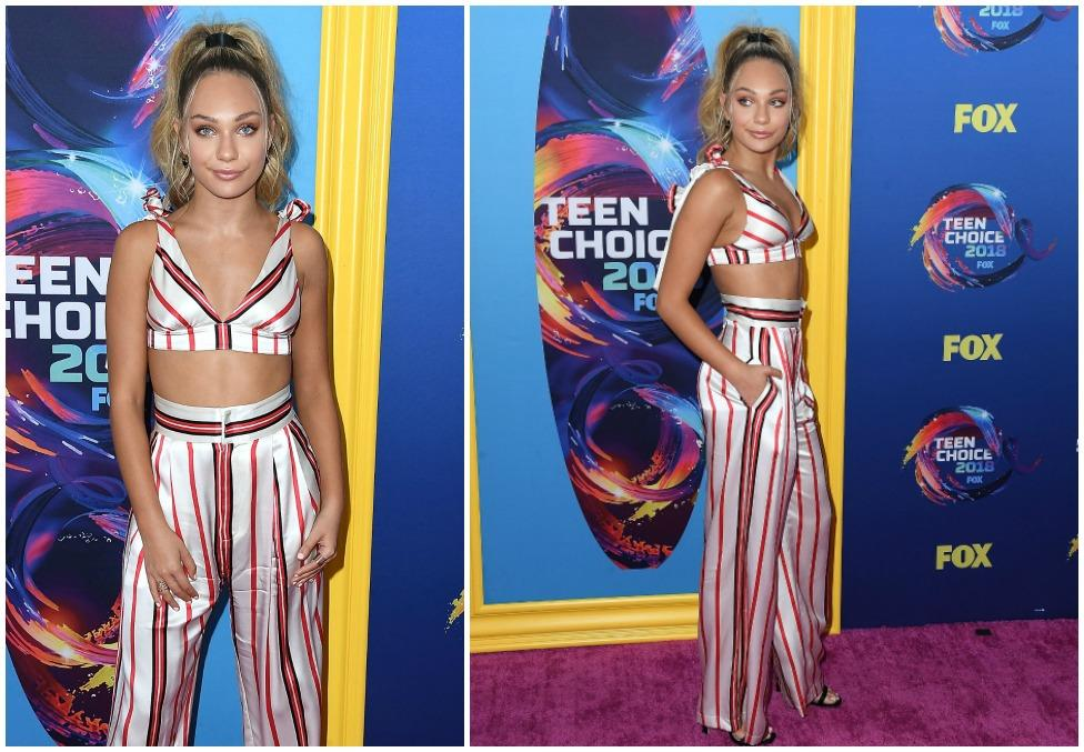 <p>Maddie looked almost unrecognisable at the Teen Choice Awards 2018 as she stepped out looking completely glam and grown up. Source:Getty </p>