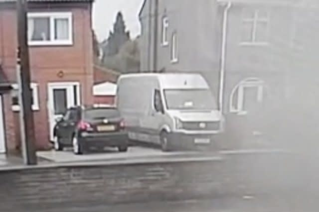 Shed Gets Blown Away by Strong Winds Landing in Middle of the Road