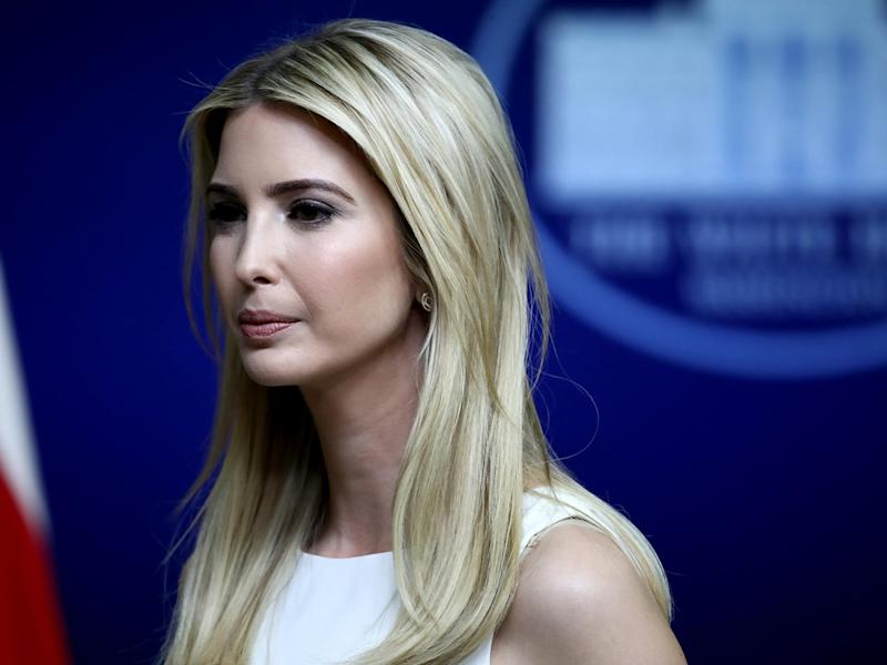 Ivanka Trump was apparently upset by her father's behaviour: Getty
