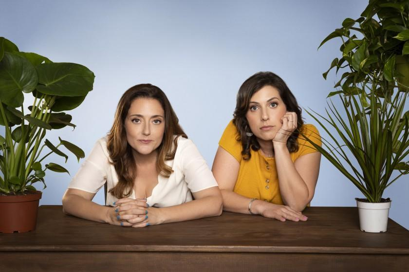 """Jessica Cordova Kramer and Stephanie Wittels Wachs from the podcast """"The Conversation with Jess and Steph."""" Credit: Robyn Von Swank"""