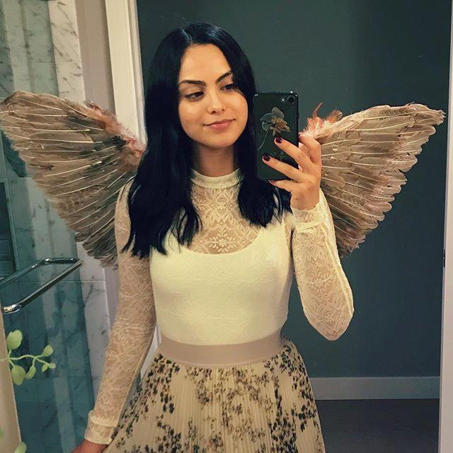 "<p>Riverdale might be taking a turn for the satanic (honestly, who knows with that show), but Camila is out here as a literal angel. Her feathered 'fit is perfect for Halloween. </p><p><a href=""https://www.instagram.com/p/Ba2lTu_AWFS/?taken-by=camimendes"" rel=""nofollow noopener"" target=""_blank"" data-ylk=""slk:See the original post on Instagram"" class=""link rapid-noclick-resp"">See the original post on Instagram</a></p>"
