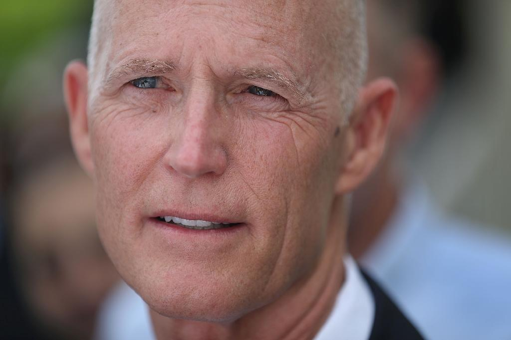 """Florida Governor Rick Scott, pictured on June 1, 2016, said the mass shooting at an Orlando nightclub was """"clearly an act of terror"""" (AFP Photo/Joe Raedle)"""