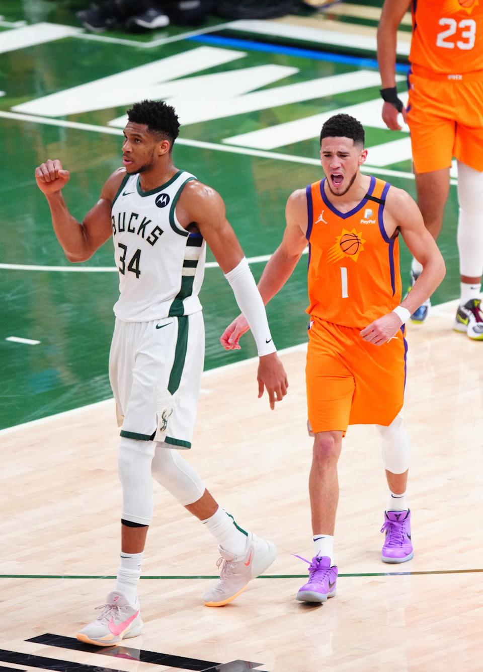 Giannis Antetokounmpo is averaging 32.3 points and 14.0 rebounds in his first NBA Finals.