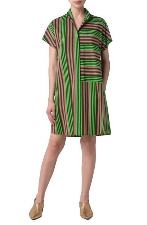 """<h2>Akris Punto Parasol Stripe Shirtdress</h2><br>In describing the subtle, couture-level craftsmanship of Swiss brand Akris, <a href=""""https://www.businessoffashion.com/community/people/albert-kriemler"""" rel=""""nofollow noopener"""" target=""""_blank"""" data-ylk=""""slk:Business of Fashion reported that third-generation designer Albert Kreimler"""" class=""""link rapid-noclick-resp"""">Business of Fashion reported that third-generation designer Albert Kreimler</a> """"simply 'cannot work with cheap fabrics.'"""" Nordstrom is an excellent resource for scoring this sought-after brand's sister label (and even better when it's on sale).<br><br><em>Shop <strong><a href=""""https://www.nordstrom.com/brands/akris-punto--8596"""" rel=""""nofollow noopener"""" target=""""_blank"""" data-ylk=""""slk:Akris Punto"""" class=""""link rapid-noclick-resp"""">Akris Punto</a></strong></em><br><br><strong>Akris Punto</strong> Patchwork Parasol Stripe Shirtdress, $, available at <a href=""""https://go.skimresources.com/?id=30283X879131&url=https%3A%2F%2Fwww.nordstrom.com%2Fs%2Fakris-punto-patchwork-parasol-stripe-shirtdress%2F5734942%3Fcolor%3Dteak-green-burnt%2520orange"""" rel=""""nofollow noopener"""" target=""""_blank"""" data-ylk=""""slk:Nordstrom"""" class=""""link rapid-noclick-resp"""">Nordstrom</a>"""