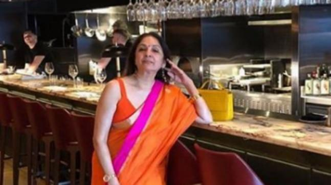 Neena Gupta recently shared a picture of herself from a London bar wearing a plunging neckline blouse with a saree. Internet cannot get enough.