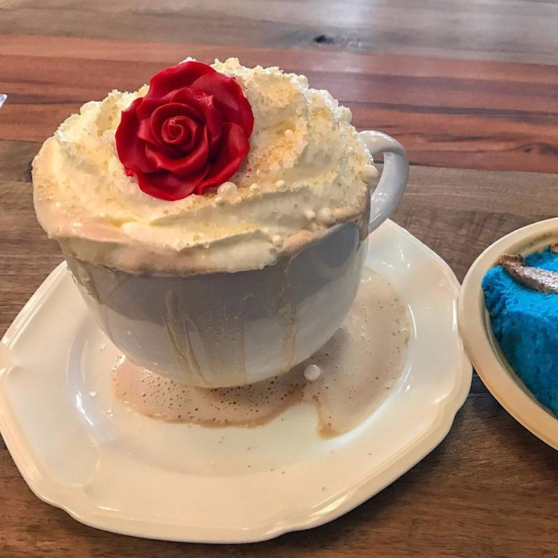 This Gorgeous Beauty and the Beast Hot Chocolate Tastes Like an Enchanted Rose