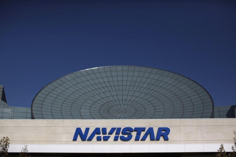 Exterior of Navistar office is seen in Lisle, Illinois