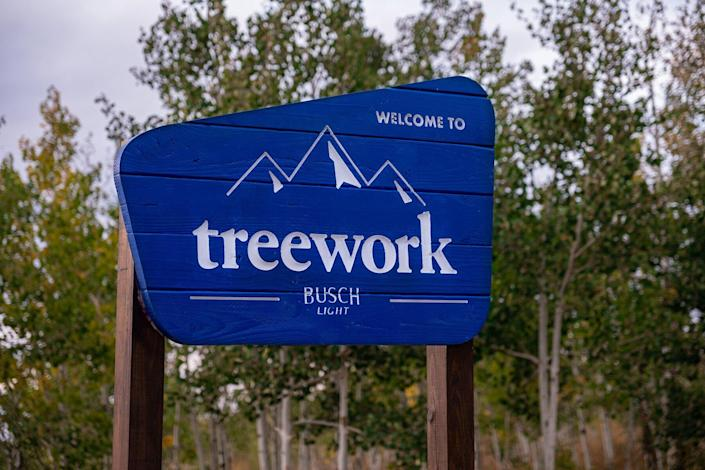 Busch Light's Treework Remote work space in the Woods of Colorado