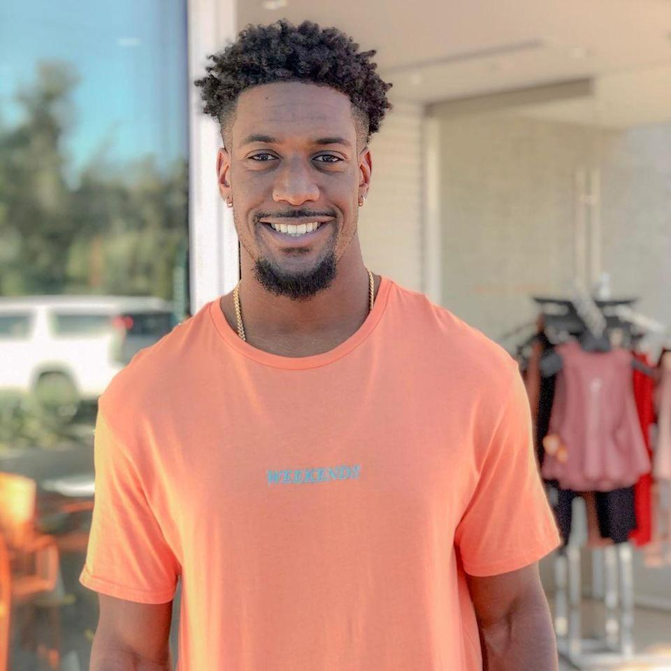 """<p>Demar didn't find his happy ending with <a href=""""https://www.bustle.com/entertainment/whats-demar-doing-after-the-bachelorette-tiktok-instagram-job"""" rel=""""nofollow noopener"""" target=""""_blank"""" data-ylk=""""slk:Clare Crawley or Tayshia Adams"""" class=""""link rapid-noclick-resp"""">Clare Crawley or Tayshia Adams</a>, but for a totally jacked Spin instructor who wants to find a wife that will """"join him and his mom on their Starbucks coffee dates""""? The chances look pretty good in Paradise. </p>"""