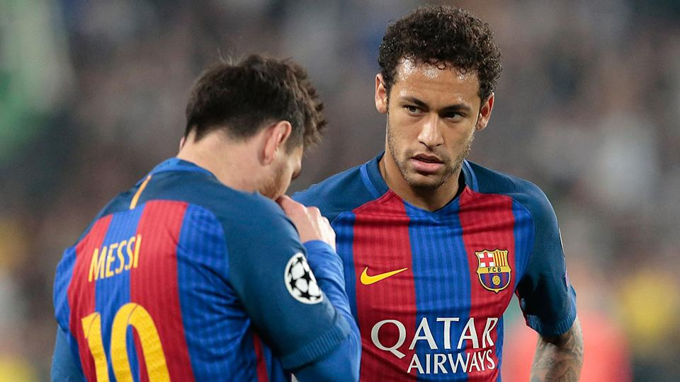 Seen here, Neymar with Lionel Messi during their time together at Barcelona.