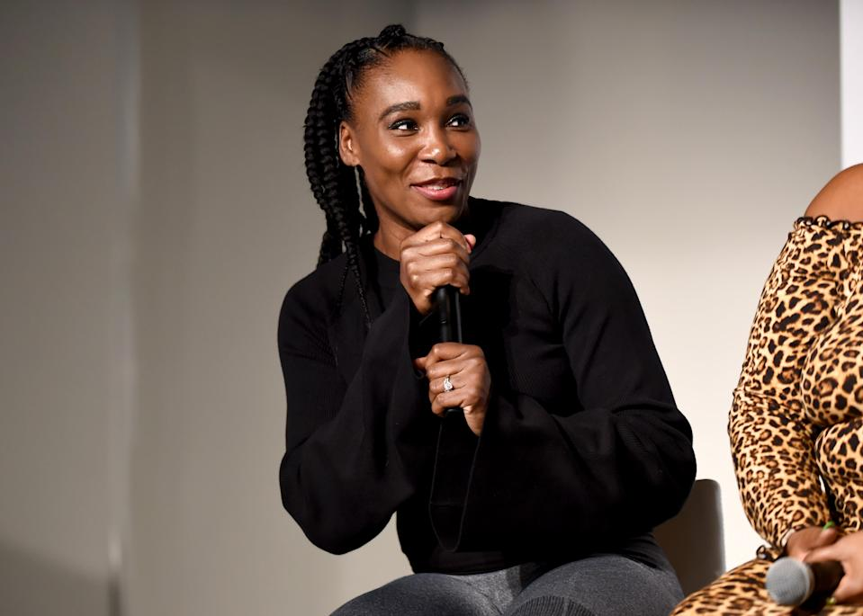 Venus Williams talks about size inclusivity and shopping as a larger woman at theCURVYcon on September 7, 2018 in New York City. (Photo: Getty)