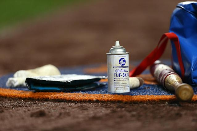 MLB believes pitchers are using foreign substances to gain an edge. (Photo by Rich Schultz/Getty Images)