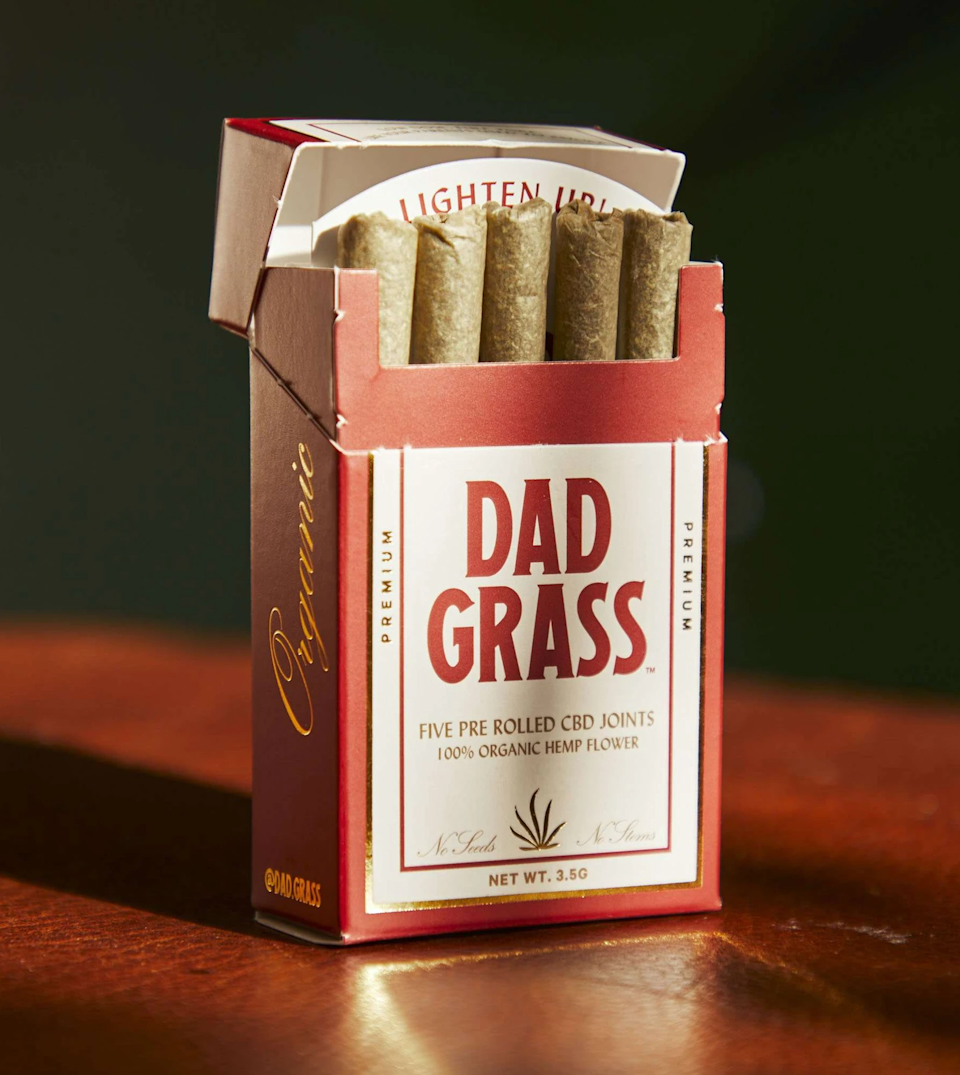 """<h2>Dad Grass Hemp CBD 5 Pack</h2><br><strong>Under $50</strong><br>Gift him a pack of perfectly rolled .7G hemp CBD joints neatly lined up in a groovy little pack and sealed for long-lasting freshness.<br><br><em>Shop Father's Day gifts at</em> <em><a href=""""https://dadgrass.com/"""" rel=""""nofollow noopener"""" target=""""_blank"""" data-ylk=""""slk:Dad Grass"""" class=""""link rapid-noclick-resp"""">Dad Grass</a></em><br><br><br><br><strong>Dad Grass</strong> Hemp CBD Preroll 5 Pack, $, available at <a href=""""https://go.skimresources.com/?id=30283X879131&url=https%3A%2F%2Fdadgrass.com%2Fcollections%2Fdad-grass-cbd-joints%2Fproducts%2Fdad-grass-hemp-cbd-preroll-5-pack%3Fvariant%3D32873449979990"""" rel=""""nofollow noopener"""" target=""""_blank"""" data-ylk=""""slk:Dad Grass"""" class=""""link rapid-noclick-resp"""">Dad Grass</a>"""