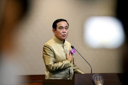 Thailand's Prime Minister Prayuth Chan-ocha gestures during a news conference after a weekly cabinet meeting at Government House in Bangkok,