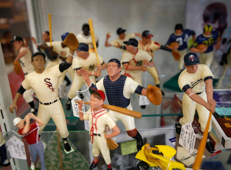 The Plaza Antique Toy Mall in Dyersville has experienced an uptick in customers the past few weeks as baseball enthusiasts flock to town ahead of the Major League Baseball game between the Chicago White Sox and the New York Yankees, which will be played at the Field of Dreams on Aug. 12, 2021.