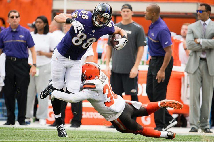 Dennis Pitta is back in our fantasy lives. (Getty Images)