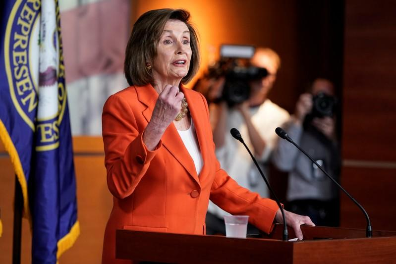 Speaker of the House Nancy Pelosi (D-CA) speaks ahead of a House vote authorizing an impeachment inquiry into U.S. President Trump in Washington