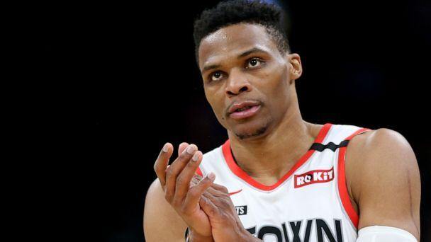 PHOTO: Russell Westbrook of the Houston Rockets at TD Garden on Feb. 29, 2020 in Boston. (Maddie Meyer/Getty Images, FILE)