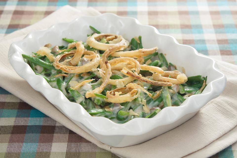 Green bean casserole became popular after the recipe was developed specifically to promote cream of mushroom soup (Photo: Getty)