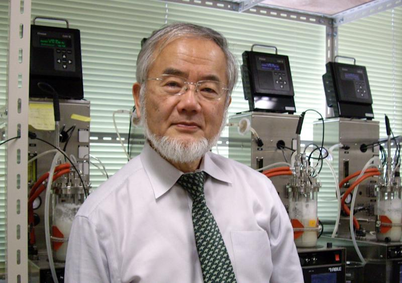 In this May 10, 2012 photo released by the Inamori Foundation, Japanese scientist Yoshinori Ohsumi, a molecular biologist at the Tokyo Institute of Technology is shown. Ohsumi, 67, was awarded Japan's annual Kyoto Prize for his work in the basic sciences Friday, June 22, 2012. (AP Photo/The Inamori Foundation) EDITORIAL USE ONLY