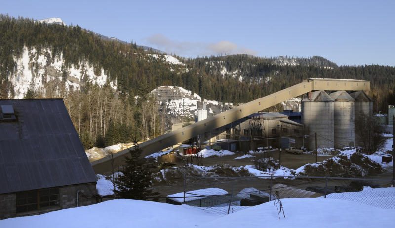 This Jan. 23, 2009 photo shows the Pend Oreille Mine in Metaline Falls, Wash. The Pend Oreille Mine closed on July 31, at a cost of about 200 jobs in an area of less than 1,000 residents. (Dan Pelle/The Spokesman-Review via AP)