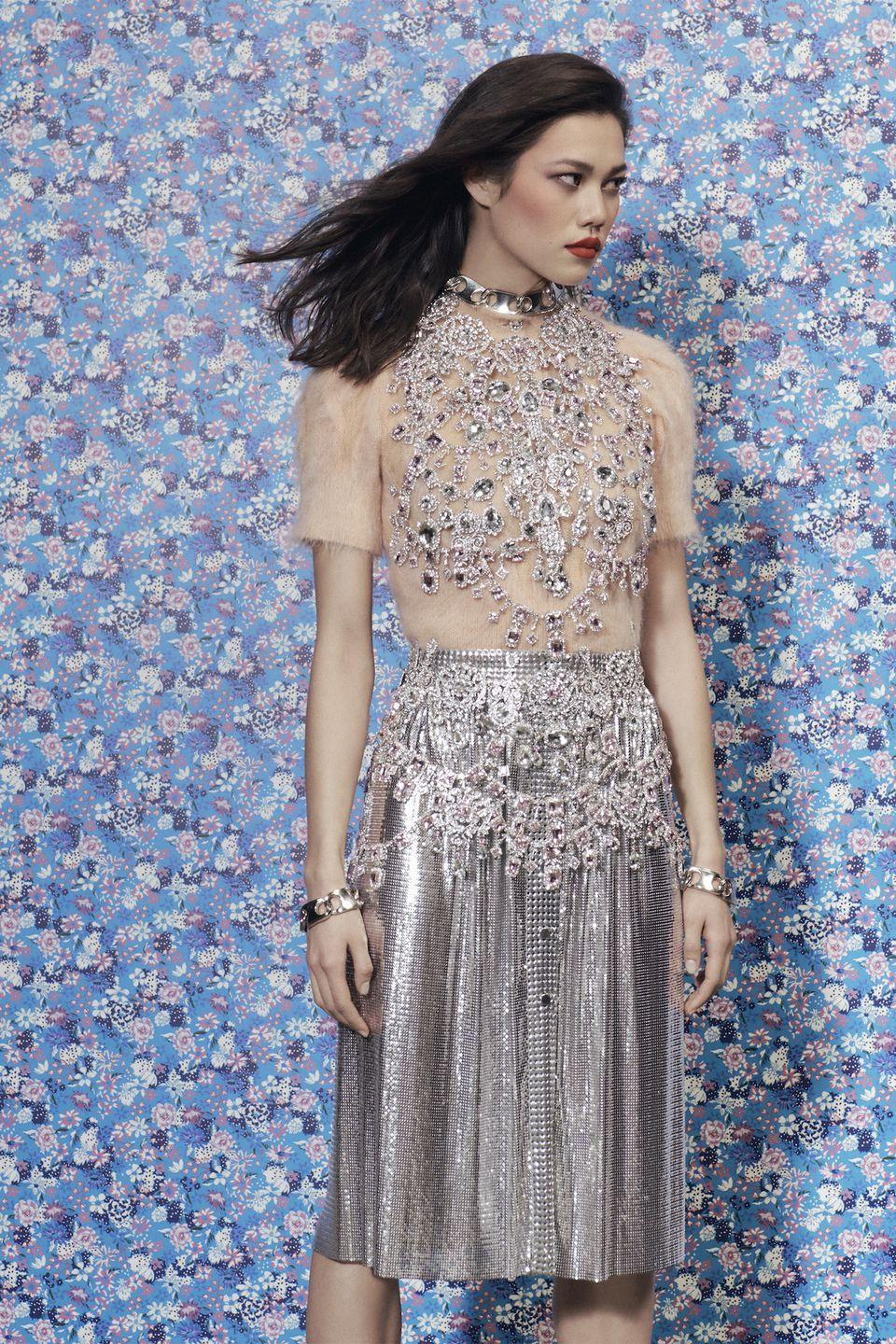 <p>It's party time!!! Channel the '20s in glitzy pieces...no matter if you're headed to a fancy occasion or just the grocery store. </p><p><em>Paco Rabanne</em></p>