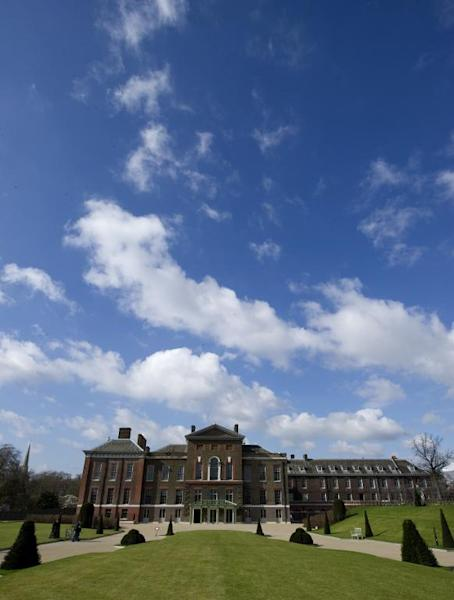 A general view of the Kensington palace in central London, on March 20, 2012