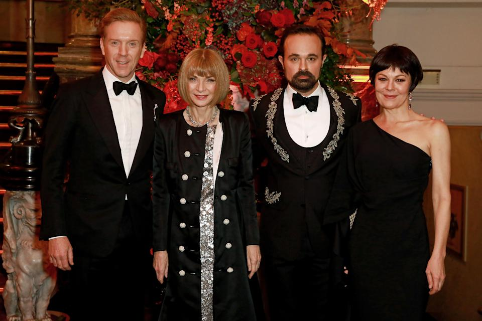 At the Evening Standard Theatre Awards 2019 with, from left, Lewis, Anna Wintour and the paper's proprietor Evgeny LebedevGetty Images