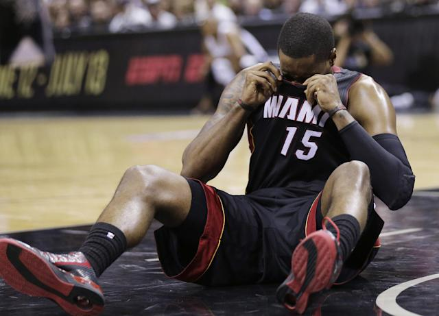 It's been a rough couple of weeks for Heat point guard Mario Chalmers. (AP)