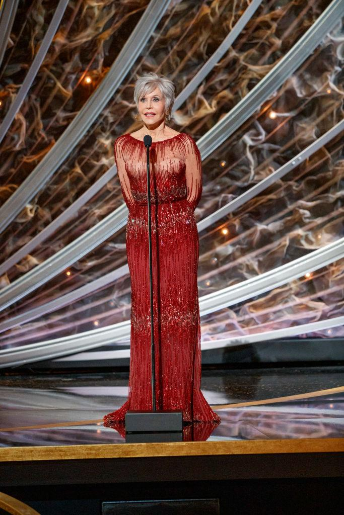 The Hollywood icon presented the award for Best Picture at the ceremony [Photo: Getty]