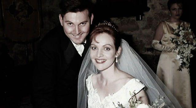 The couple in happier times on their wedding day. Source: Facebook.