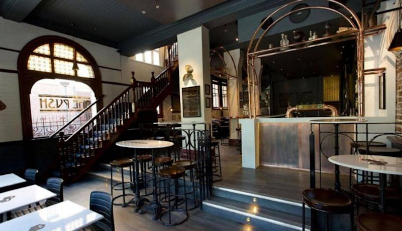 The spirit of a workman was once captured on camera at this bar downstairs. Photo: Supplied