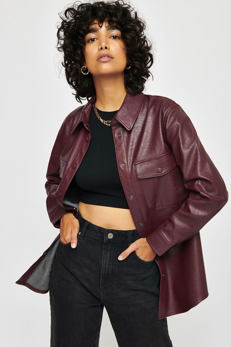 Brooklyn Faux Leather Shacket