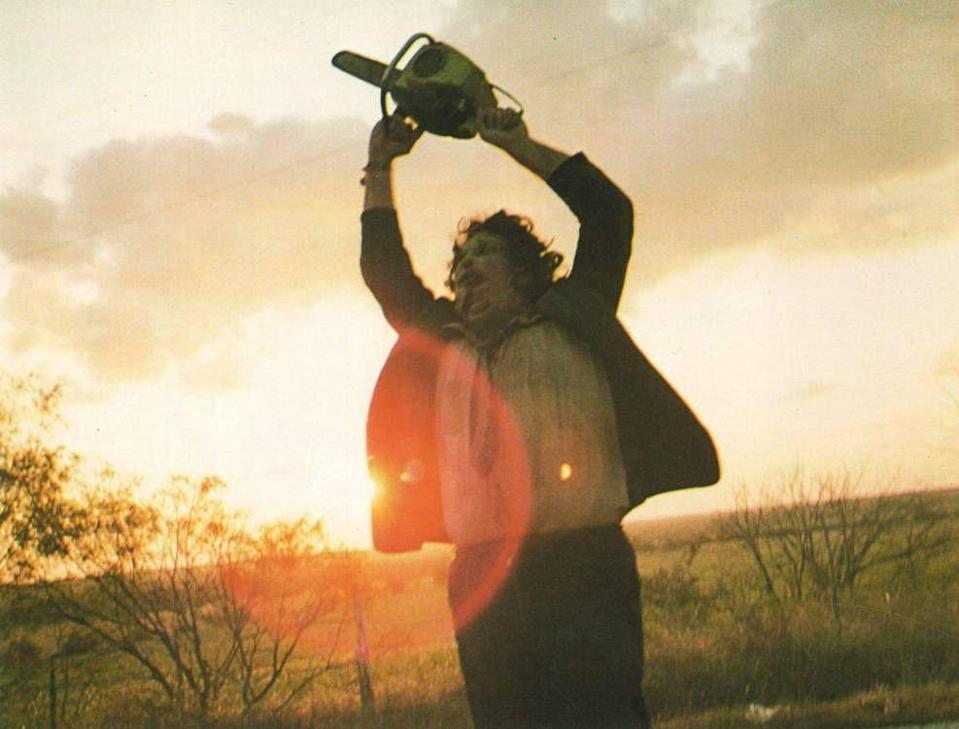 """<p><strong><em>The Texas Chainsaw Massacre</em></strong></p><p>A group of friends faces a family of cannibalistic, chainsaw-wielding psychopaths in the deep backroads of Texas.<br></p><p><a class=""""link rapid-noclick-resp"""" href=""""https://www.amazon.com/Texas-Chain-Saw-Massacre-Anniversary/dp/B077T2DG12?tag=syn-yahoo-20&ascsubtag=%5Bartid%7C10055.g.29120903%5Bsrc%7Cyahoo-us"""" rel=""""nofollow noopener"""" target=""""_blank"""" data-ylk=""""slk:WATCH NOW"""">WATCH NOW</a></p>"""