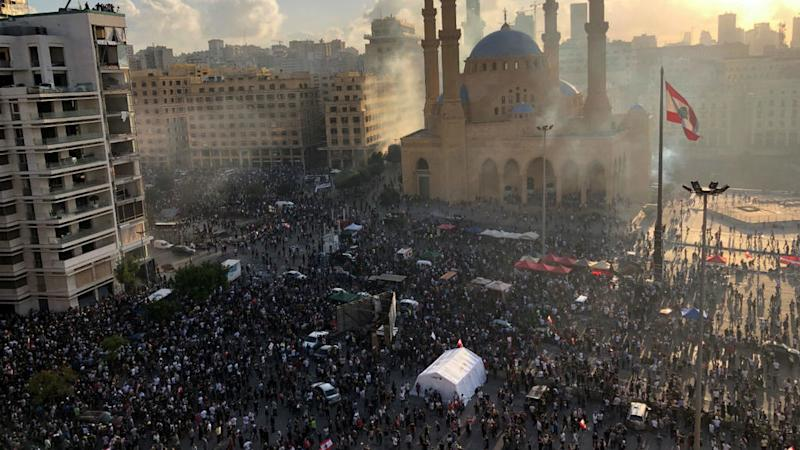 Lebanese protesters storm ministry buildings as anger over Beirut explosion grows