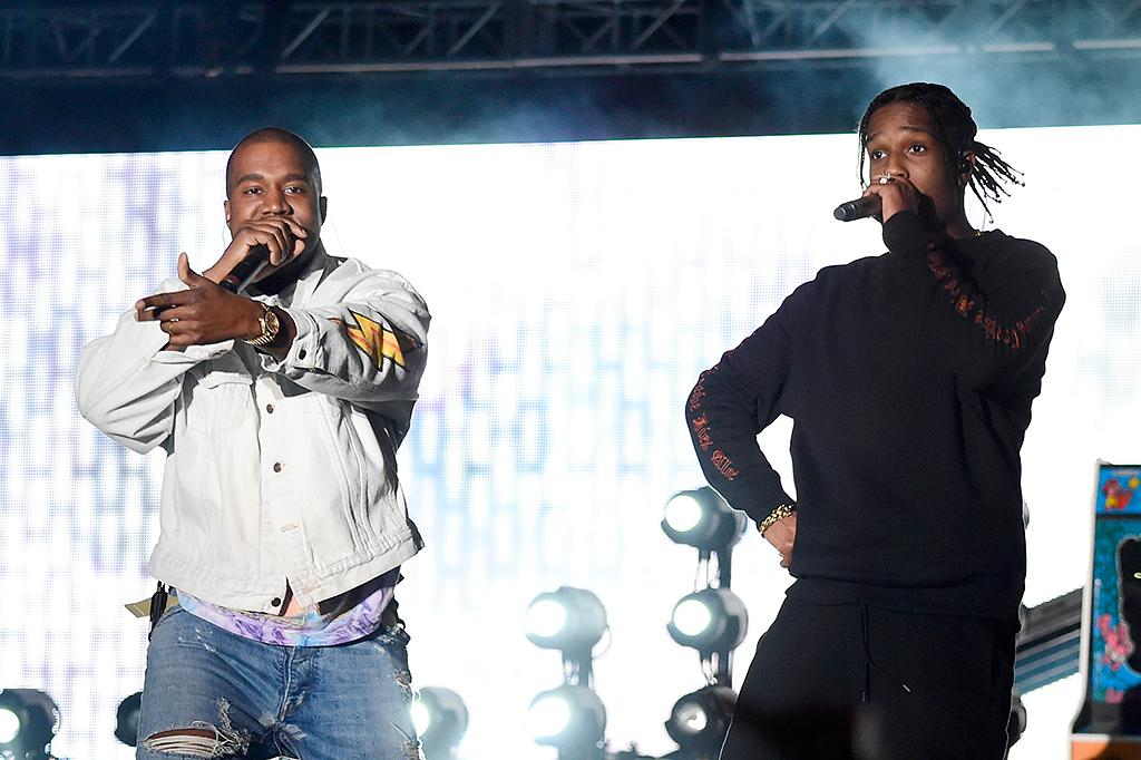<p>Kanye West and rapper A$AP Rocky perform onstage during day 1 of the 2016 Coachella Valley Music & Arts Festival Weekend 1 at the Empire Polo Club on April 15, 2016 in Indio, California. (Photo: Frazer Harrison/Getty Images for Coachella) </p>