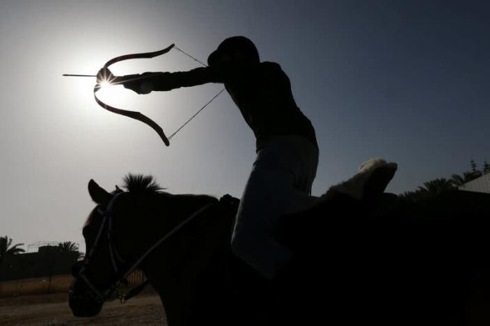 First team of mounted archers takes aim in Gaza