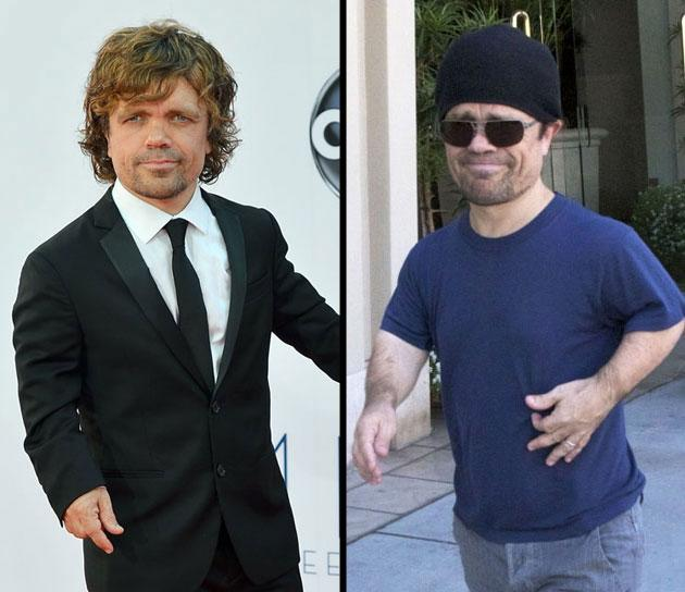 Emmy Awards: Peter Dinklage arrives walks the red carpet at the 64th Primetime Emmys. Day after: Dinklage out and about in Beverly Hills, California with his wife Erica Schmidt and their baby girl