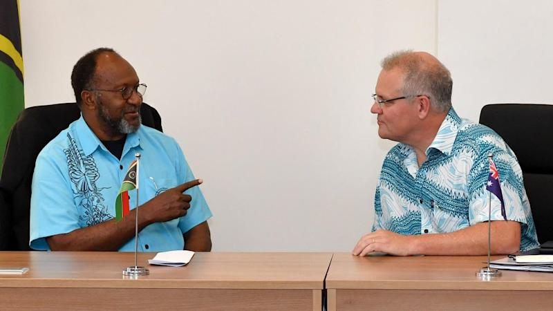 The PM is preparing for climate change talks with Pacific leaders such as Vanuatu's Charlot Salwai