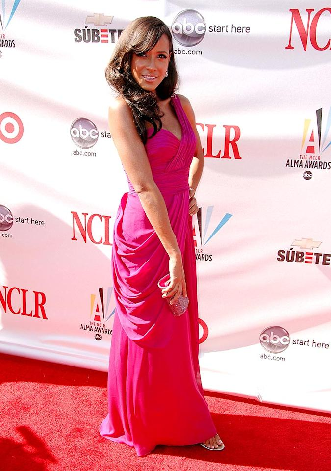 """Dania Ramirez (""""X-Men 3,"""" """"Heroes"""") is known for her hard-edged roles, but for the Alma's she glammed it up in hot pink. Steve Granitz/<a href=""""http://www.wireimage.com"""" target=""""new"""">WireImage.com</a> - August 17, 2008"""
