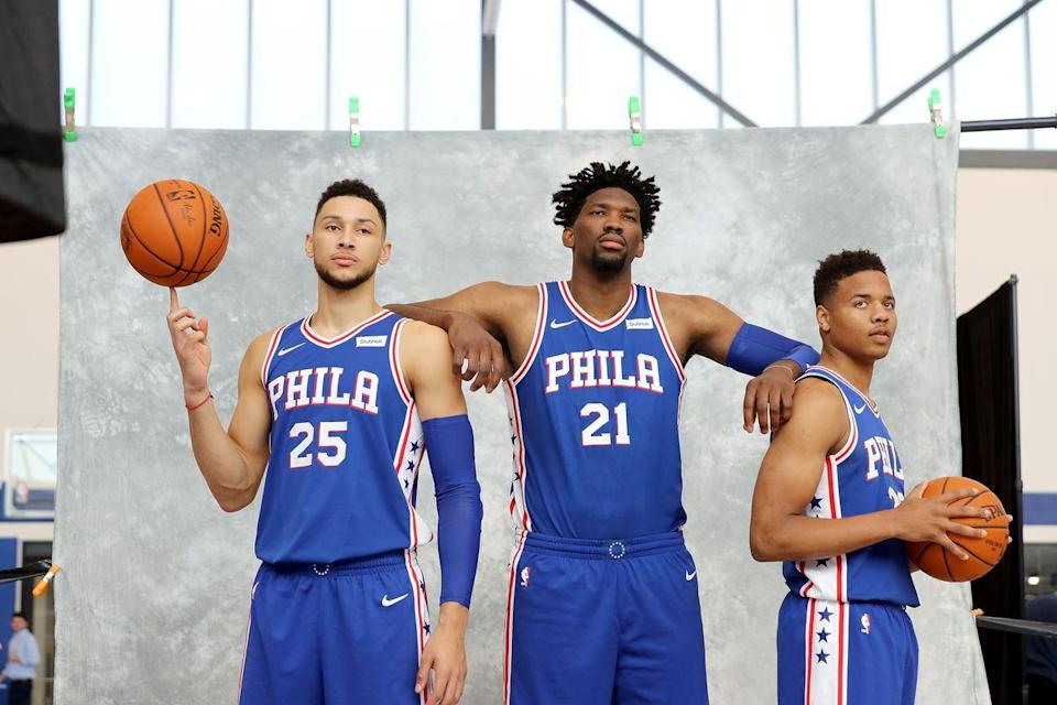 Ben Simmons, Joel Embiid and Markelle Fultz should make The Process worth the wait. (Getty Images)