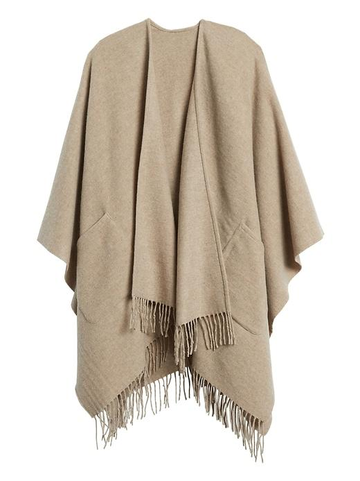 Banana Republic Wool-Blend Poncho with Pockets