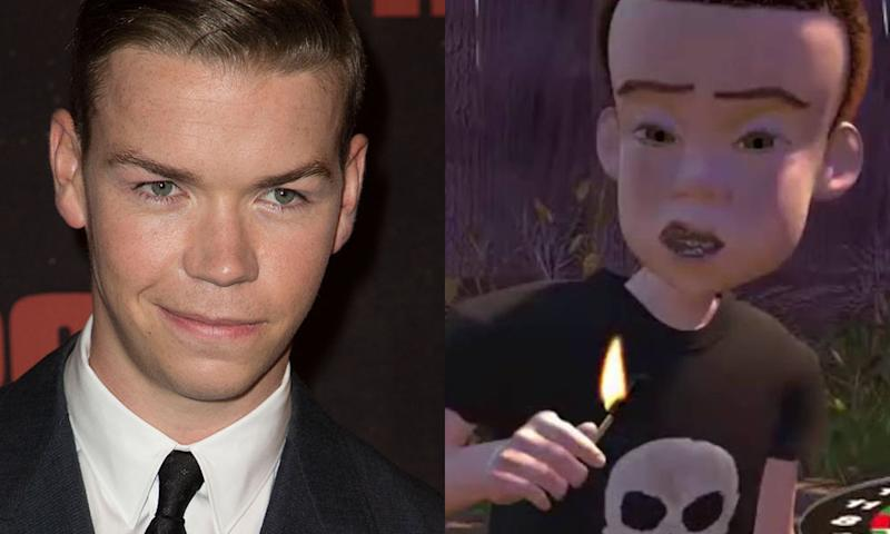 Will Poulter Dons Toy Story Sid Bully Costume