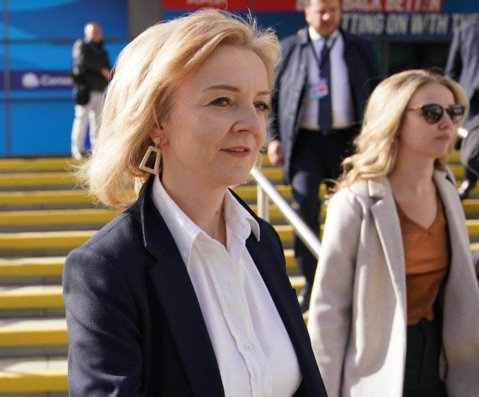 Liz Truss said woman can be fearful of going out at night (Jacob King/PA) (PA Wire)