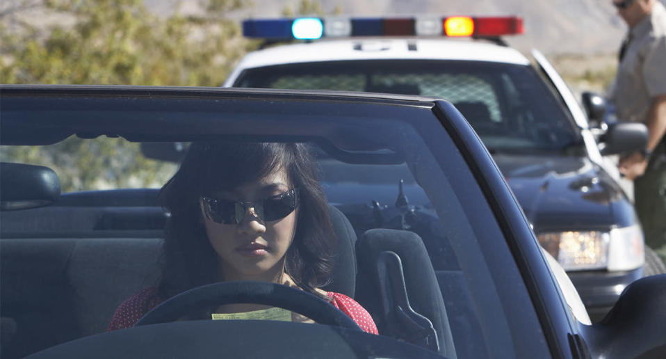 Various versions of the fictional scenario of a young woman pulled over by 'fake police' have been circulated around the world for the past decade. Source: Getty, file