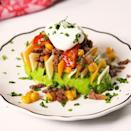 """<p>Make sure you've got <a href=""""https://www.delish.com/uk/food-news/a32968326/how-to-ripen-avocados/"""" rel=""""nofollow noopener"""" target=""""_blank"""" data-ylk=""""slk:ripe avos"""" class=""""link rapid-noclick-resp"""">ripe avos</a> for these! Firm ones are much more difficult to stuff (and not as delicious to eat, obvs.) </p><p>Get the <a href=""""https://www.delish.com/uk/cooking/recipes/a35345953/burrito-avocados-recipe/"""" rel=""""nofollow noopener"""" target=""""_blank"""" data-ylk=""""slk:Burrito Avocados"""" class=""""link rapid-noclick-resp"""">Burrito Avocados</a> recipe.</p>"""