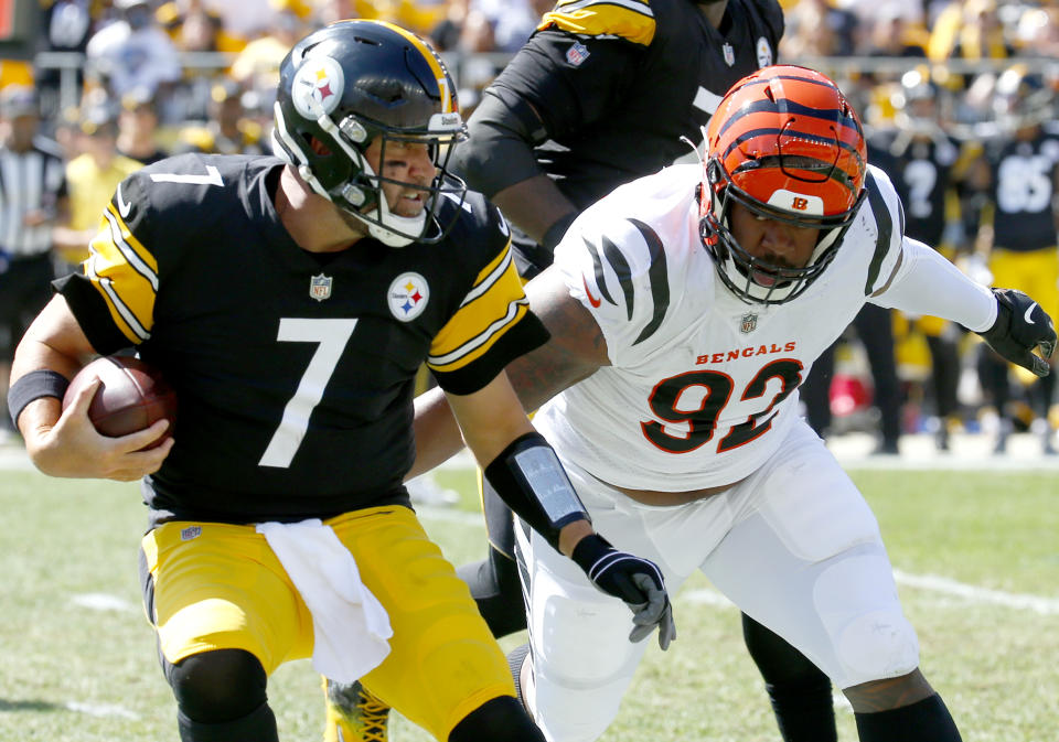 Ben Roethlisberger struggled again on Sunday in the Steelers' loss. (Photo by Justin K. Aller/Getty Images)