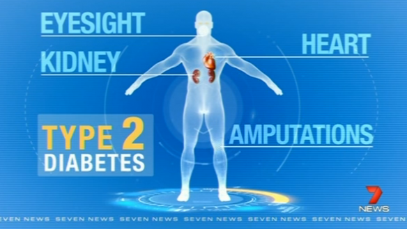The effects of diabetes on the body. Photo: Seven News
